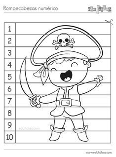 Pirate Activities, Book Activities, Toddler Crafts, Crafts For Kids, Birthday Backdrop, Kids Pages, Pirate Theme, Early Childhood Education, Learning Resources