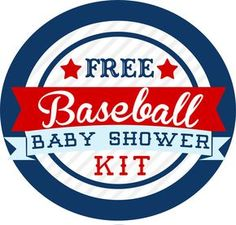 Baseball Themed Baby Shower Kit U2013 FREE