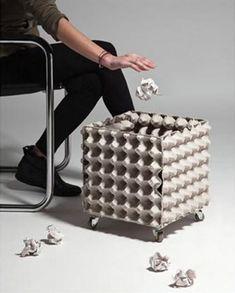 Ideas para reciclar cajas de huevos
