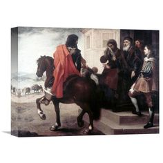 Global Gallery 'Departure of the Prodigal Son' by Bartolome Esteban Murillo Painting Print on Wrapped Canvas Size: 1
