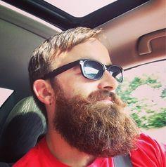 huge full puffy bushy beard mustache beards bearded man men sunglasses summer bearding #beardsforever