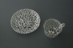 Ornate Tableware Sculpted in Gold and Silver Filigree by Wiebke Maurer | Colossal
