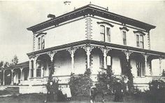 """Lake Mansion - built in 1877 by W.J. Marsh,  was sold to Myron Lake in 1879. Lake is often considered the founder of Reno. His toll bridge across the Truckee caused the early settlement to be called """"Lake's Crossing."""""""