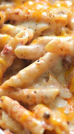 Chili Cheese Dip One Pot Pasta.