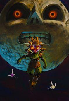 The Legend Of Zelda Majoras Mask Nintendo 3ds Video Game Art Best Games