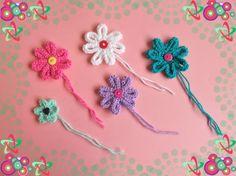Marianna's Medium Knitted Flowers