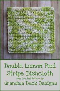 Free crochet dishcloth or washcloth pattern designed to be beginner friendly with a beautiful texture. Crochet Crafts, Crochet Projects, Free Crochet, Dog Crochet, Crochet Humor, Double Crochet, Single Crochet, Crochet Ideas, Crochet Lace