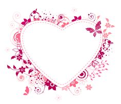 Hearts: Free Printable Frames, Toppers or Labels.