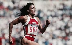 ('Flo-Jo')  Florence Griffith-Joyner; the fastest women in the world. She holds the Olympic record for Women's 100m & 200m dash when she ran a 200m in 21.34 seconds and a 100m in 10.49 at the 1988 Summer Olympics in Seoul.  She's my Olympic Hero ☺️☺️☺️ and I want to be able to run like her #Rio2016 #Tokyo2020
