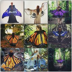 Some of the wings we made in 2016 (not all of them) ! I love so much to make things inspired on nature... you can find all the capes in the shop www.costureroreal.etsy.com made by order