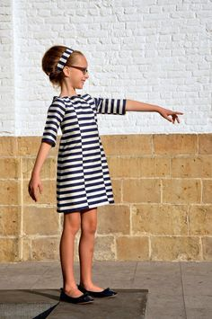 stripes, fun idea for the Oliver + S School Photo Dress