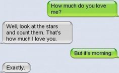 Couldn't count. Funny Couple Text Message. Tap to check out more real funny quotes and meme! - @mobile9 #funny #sms
