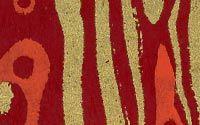 Kaleidoscope Print Lokta Paper - Red & Gold on Raspberry