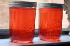 Lemon balm & hibiscus flower jelly - Rose's Recipe Collection's