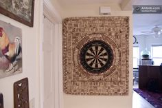 Wine cork dart board.