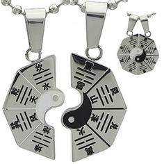 Kalung Couple Yin Yang Pakwa Yin Yang, Personalized Items, Couples, Couple