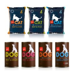 Pam's Pet Food packaging via The Dieline