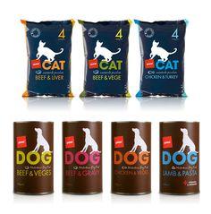Pam's Pet Food packaging via The Dieline