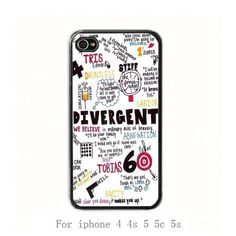 Iphone 5 Case,Divergent  iphone 5s case, iphone 5c case, for iphone 4 4s 5 5s 5c case, cover skin case More styles on Etsy, $6.99