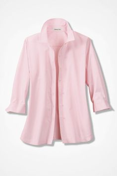 Easy Care Three-Quarter Sleeve Shirt - Coldwater Creek
