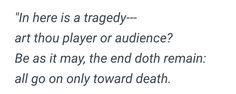 all go on only toward death