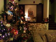 Christmas 2015 at Lions Nine hotel , Pelion , Greece, Lobby Christmas 2015, Christmas Tree, Lions, Greece, Holiday Decor, Home Decor, Teal Christmas Tree, Greece Country, Lion