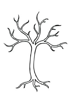 Christmas Tree Coloring Pages on Coloring Bare Tree Clip Art Vector Clip Art Online Royalty Free Tree Templates, Leaf Template, Tree Outline, Tree Clipart, Clipart Images, Tree Coloring Page, Bare Tree, Fruit Of The Spirit, Photo Tree