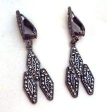 Vintage Sterling Silver Marcasite Earrings    http://www.ebay.com/itm/161066293198?ssPageName=STRK:MESELX:IT&_trksid=p3984.m1555.l2649#ht_1345wt_1399