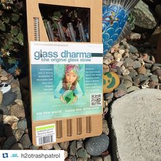 H2O Trash Patrol is giving glass straws for a prize!  For every reusable straw, they do not have to pick up so many plastic straws!