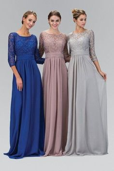 Cheap dress shirts custom made, Buy Quality dress for less prom dresses directly from China dress daisy Suppliers: Long A-line Silver Gray Modest Bridesmaid Dresses 2017 With Sleeves Chiffon Lace Formal Floor Length Wedding Party Dresses Winter Bridesmaid Dresses, Bridesmaid Dresses With Sleeves, Wedding Gowns With Sleeves, Wedding Dress Chiffon, Lace Bridesmaid Dresses, Modest Wedding Dresses, Trendy Dresses, Winter Dresses, Homecoming Dresses