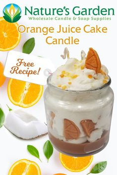 Free Orange Juice Cake Candle Recipe by Natures Garden