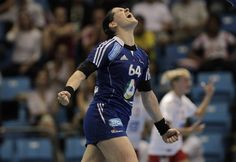 Alexandra Lacrabére — Handball — France.  London will mark Lecrabére's second Olympics, she was on the French team in China that failed to medal. She came out in Hand Action magazine last November.
