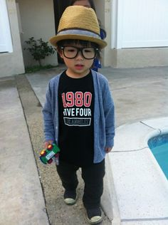 Hipster Asian baby...yes my kid would be this cute. #truth