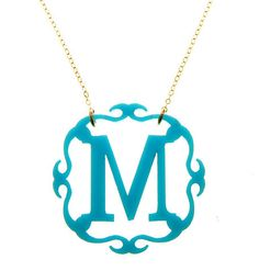 Acrylic Adele Monogram Necklace (23 Colors Available) from Southern Jewelry Auctions on Facebook!