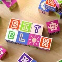 Bitblox: Wooden Alphabet Blocks $45
