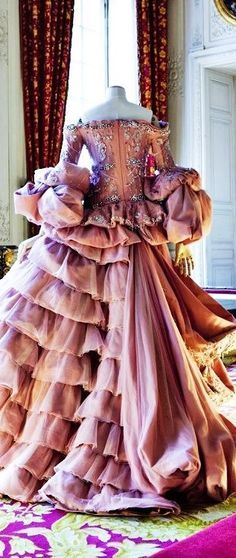 Vintage Christian Dior Haute Couture.....Such a beautiful costume piece.  Wow.  B.