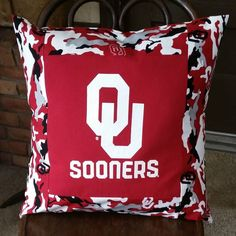 Large T-shirt Throw Pillow Cover, University of Oklahoma  $20.00
