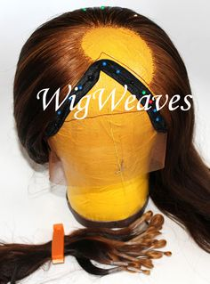 Ventilating with 2-3 strands completing lace front wig