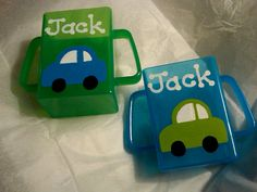 These juice box holders are a wonderful addition to any house with a toddler!  You simply insert a juice box into its holder and your child can
