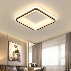 NEO Gleam Black White Finished Modern led Ceiling lights for bedroom study room living room Square/Round Ceiling lamp Fixtures Ceiling Design Living Room, Bedroom False Ceiling Design, Ceiling Light Design, Chandelier In Living Room, Ceiling Chandelier, Living Room Lighting, Lighting Design, Bedroom Ceiling Lights, Home Ceiling