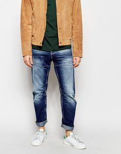 Jack & Jones Washed Jeans with Panels in Anti Fit