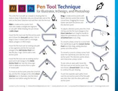 Pen tool made simple for InDesign, Illustrator, and Photoshop