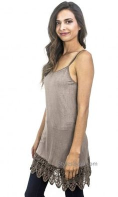 Kizzy Anne Ladies Acid Wash Cami With Crochet Hemline In Taupe Vintage Inspired Outfits, Neutral Tones, Mix Match, Underarm, Hemline, Crochet Top, Taupe, Camisole Top, Fashion Accessories