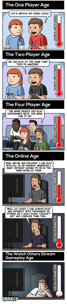 Dorkly Comic: The Ages of Multiplayer