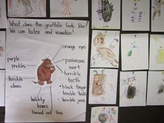 ABCs of Reading: visualizing, inferring, visual art, drama. Ideas for The Gruffalo
