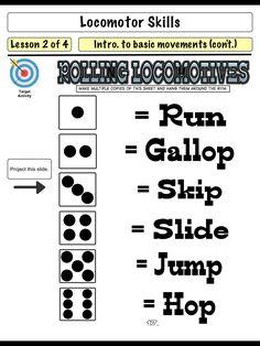 (PK-K Locomotor Movements) Physical Education Lesson Plans, Pe Lesson Plans, Elementary Physical Education, Music Education, Health Education, Pe Games Elementary, Elementary Schools, Pe Activities, Physical Activities