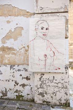 Ma broderie dans la rue #guacolda #broderie #streetart #montreuil #art # usinechapal #rue