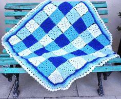 Baby Boy Crochet Blanket / Colchita para Pedro