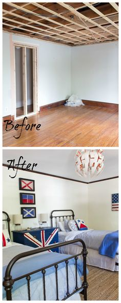 Before and After Coastal Bedroom Makeover