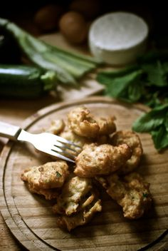 Buñuelos de queso y calabacines, receta corsa con Thermomix